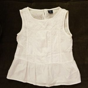 GapKids ivory embroidered top